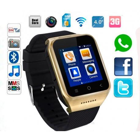 676aac65f Reloj Celular S8 Android 4.4 Dorado / GPS / Ranura Tarjeta SIM / Memoria  8GB /